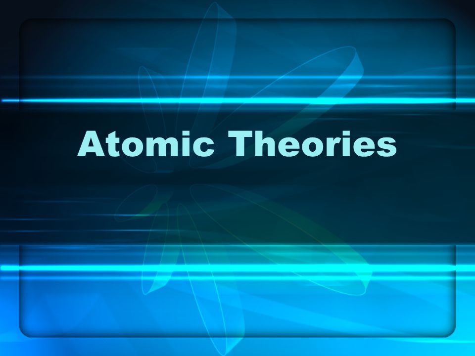 Atoms The Adventures of J.J.Thomson, Plum Pudding and the Electron.