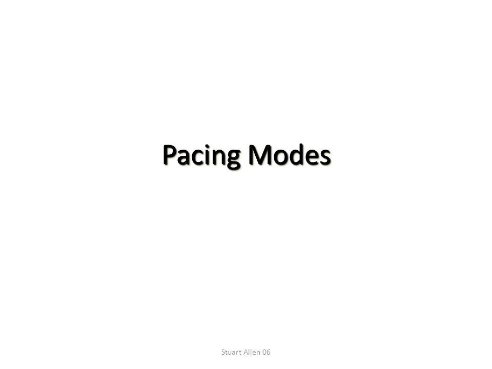 Stuart Allen 06 Pacing Modes