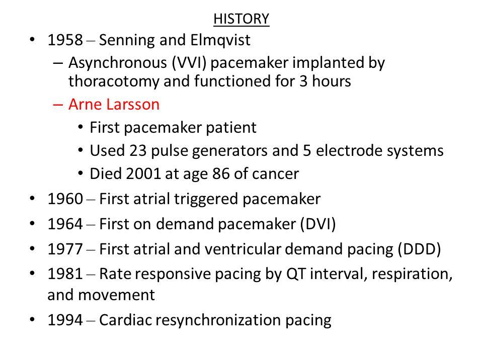 Optimal Pacing Mode (BPEG) Sinus Node Disease-AAI (R) AVB-DDD SND + AVB-DDDR + DDIR Chronic AF + AVB-VVI