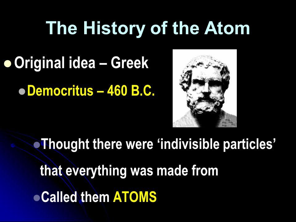 Atomic Theory Atomic Theory