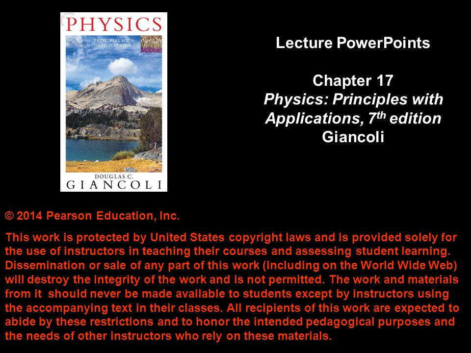 Chapter 17 Electric Potential © 2014 Pearson Education, Inc.