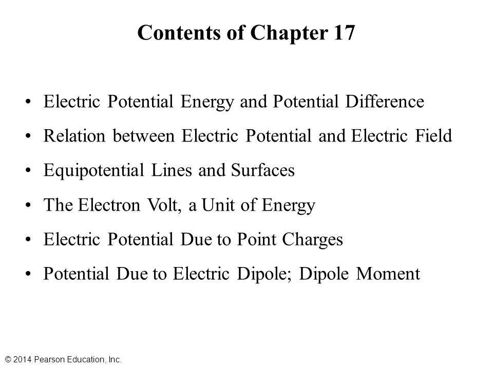 17.5 Electric Potential Due to Point Charges The electric potential due to a point charge can be derived using calculus.