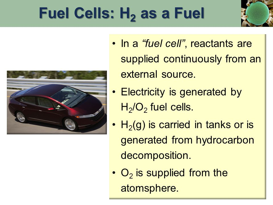 In a fuel cell , reactants are supplied continuously from an external source.
