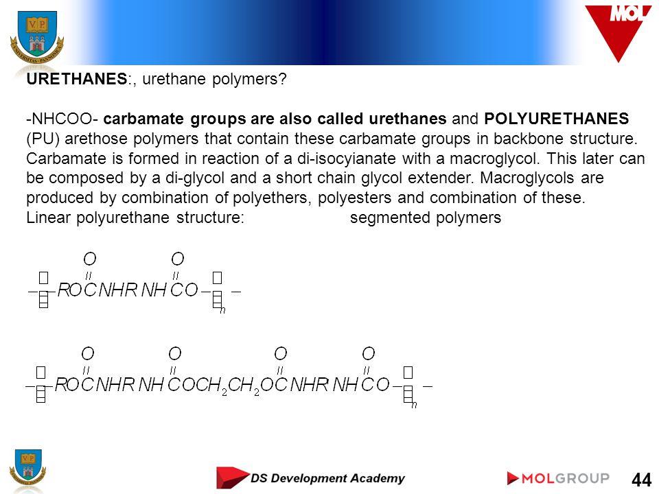 44 URETHANES:, urethane polymers.