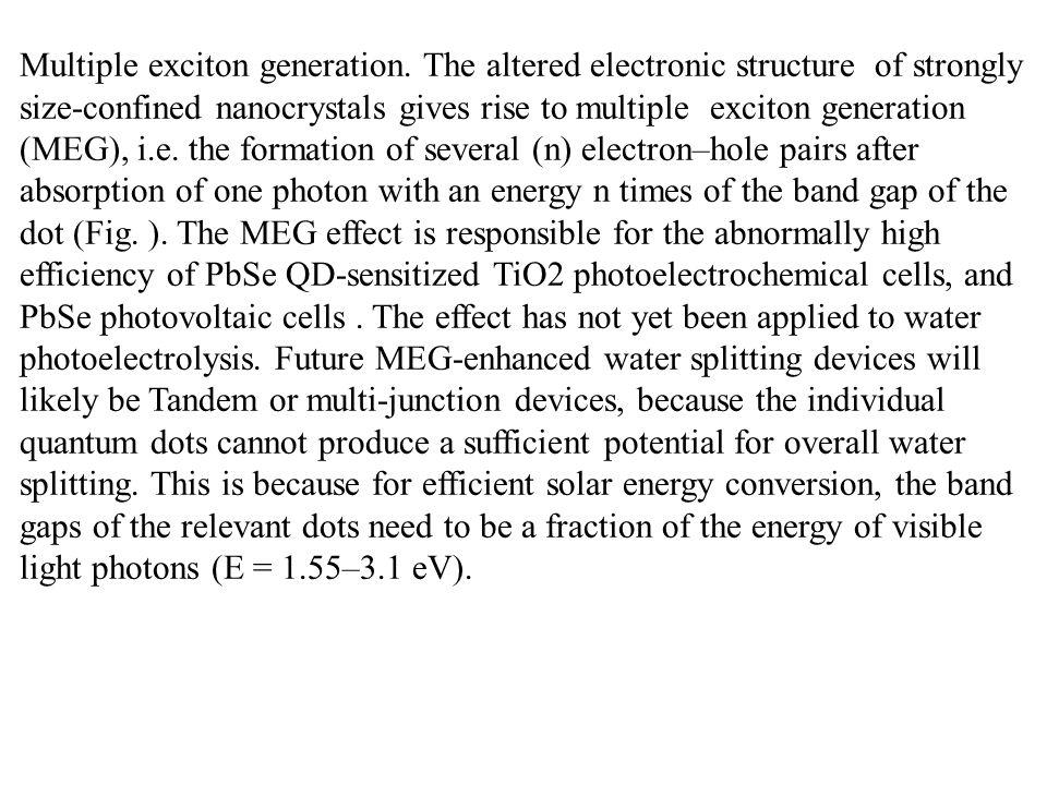Multiple exciton generation.