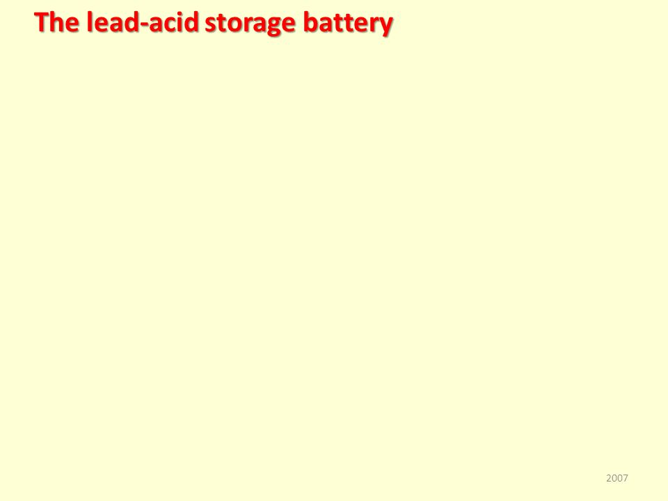 The lead-acid storage battery 2007