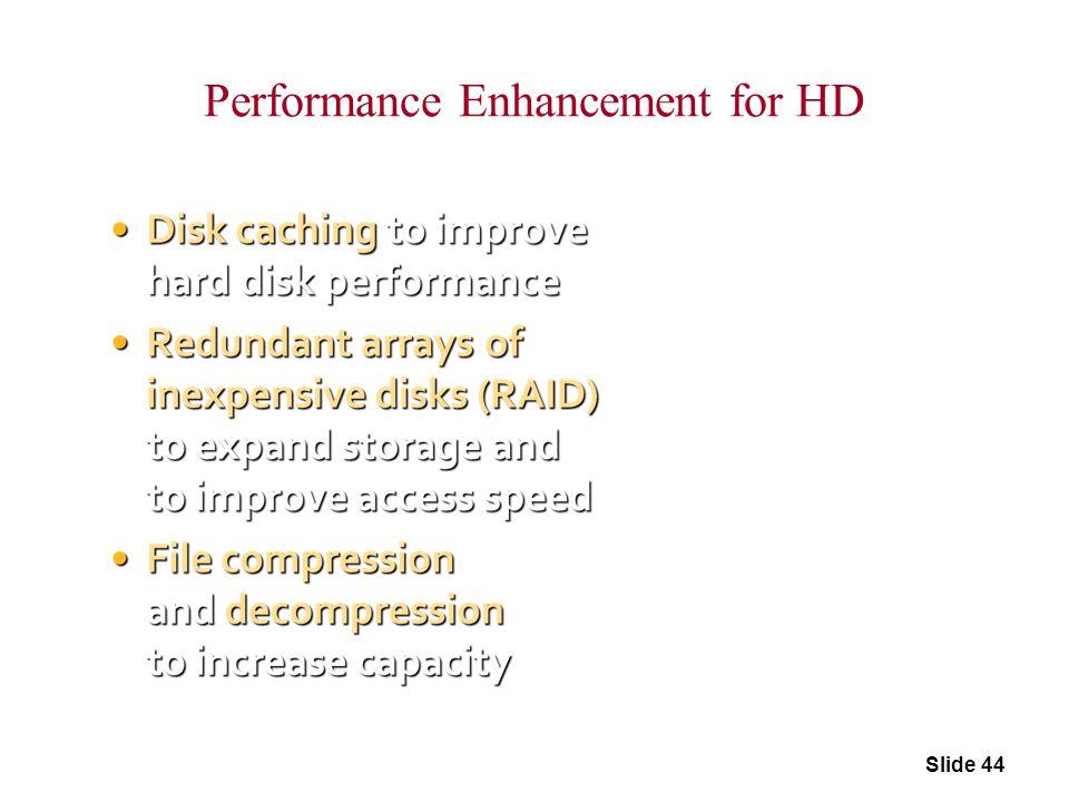 Performance Enhancement for HD Slide 44
