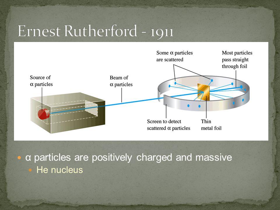 α particles are positively charged and massive He nucleus