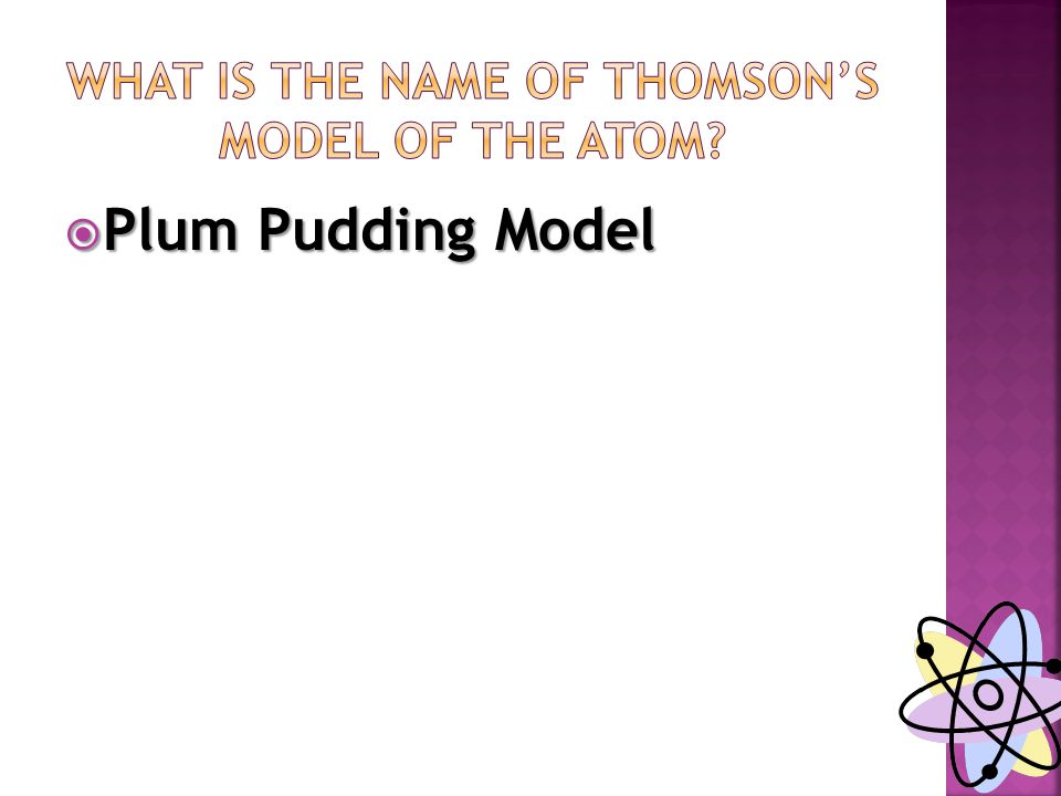  Plum Pudding Model