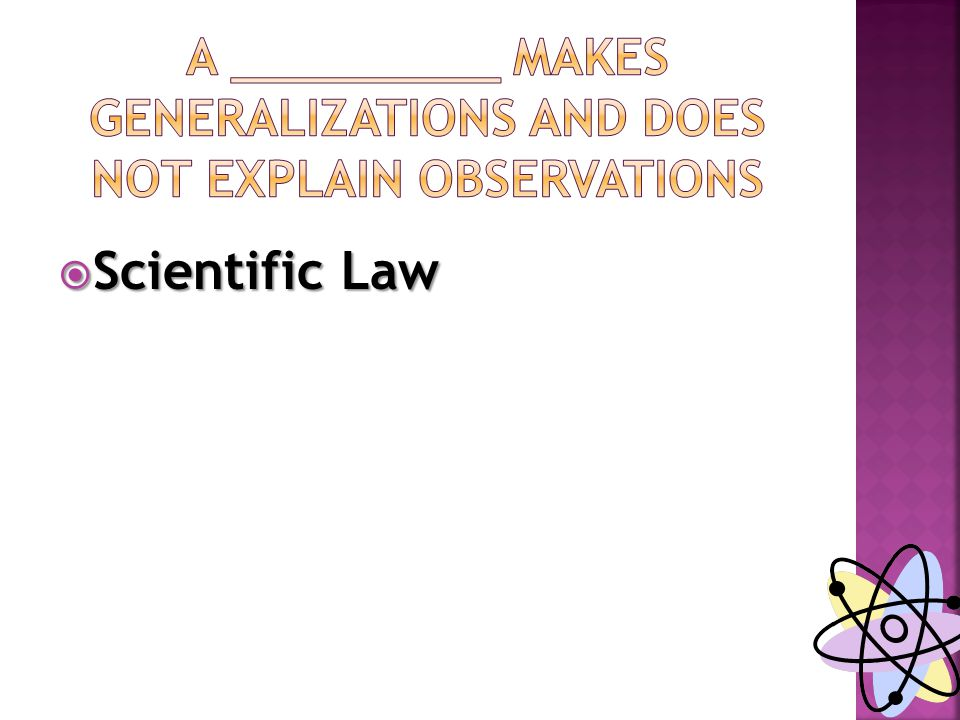  Scientific Law