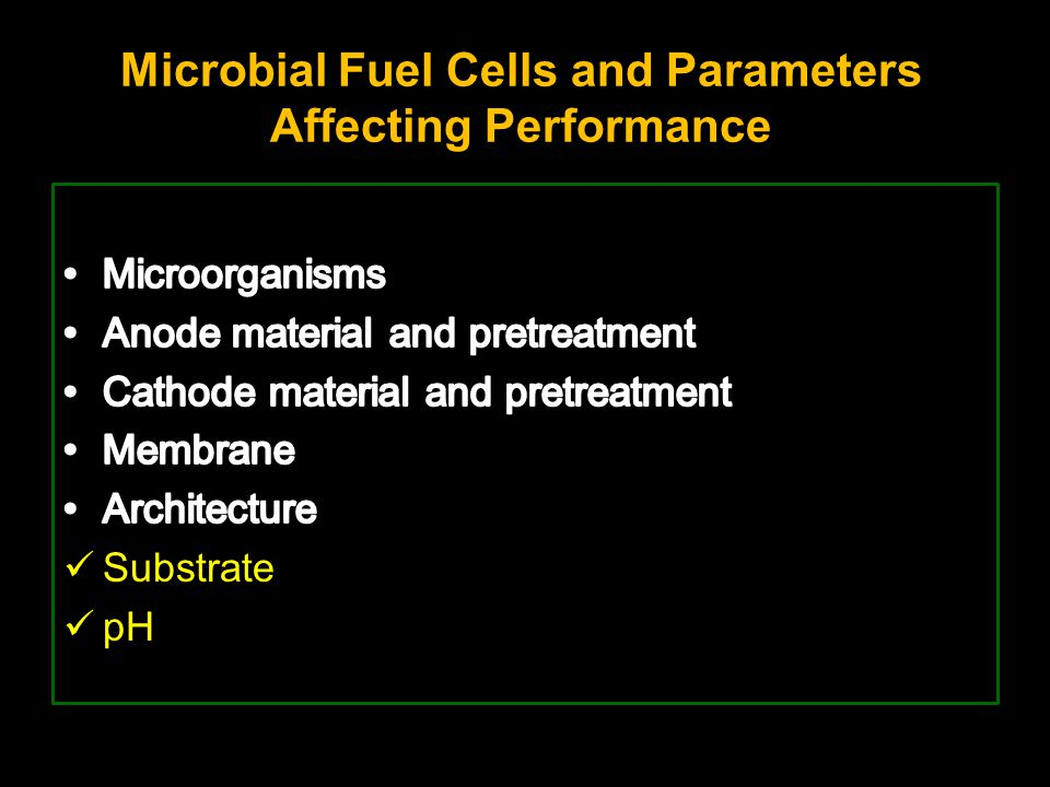 Microbial Fuel Cells and Parameters Affecting Performance