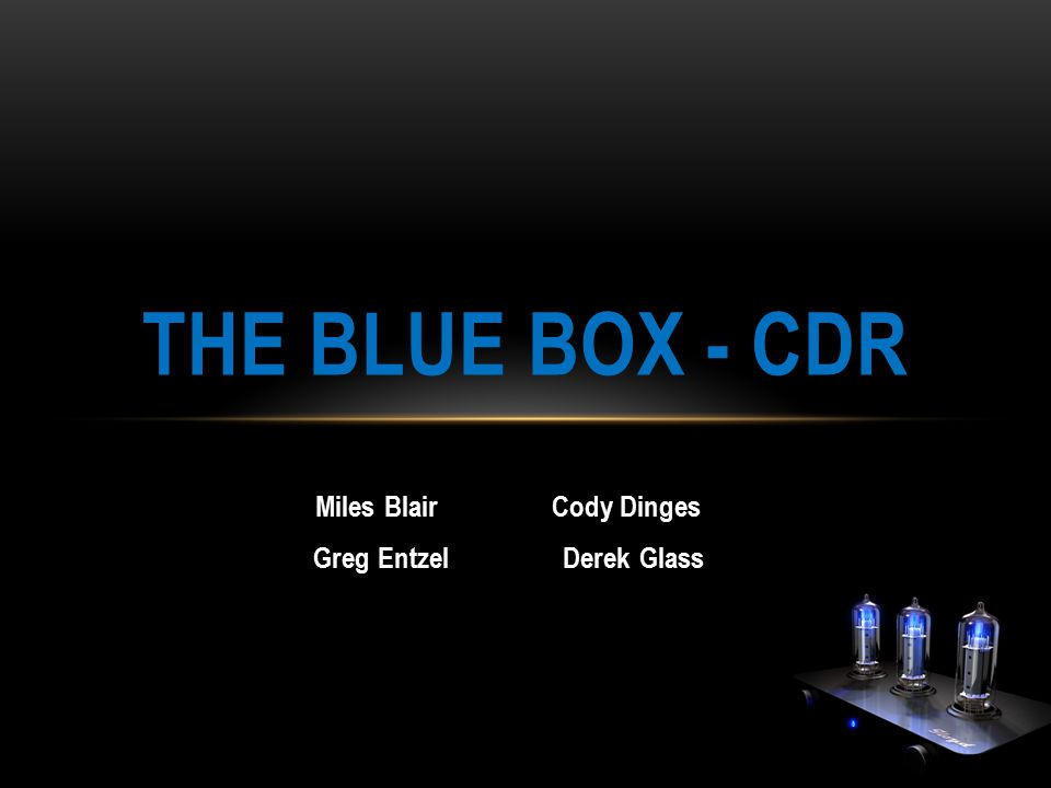 Miles Blair Cody Dinges Greg Entzel Derek Glass THE BLUE BOX - CDR