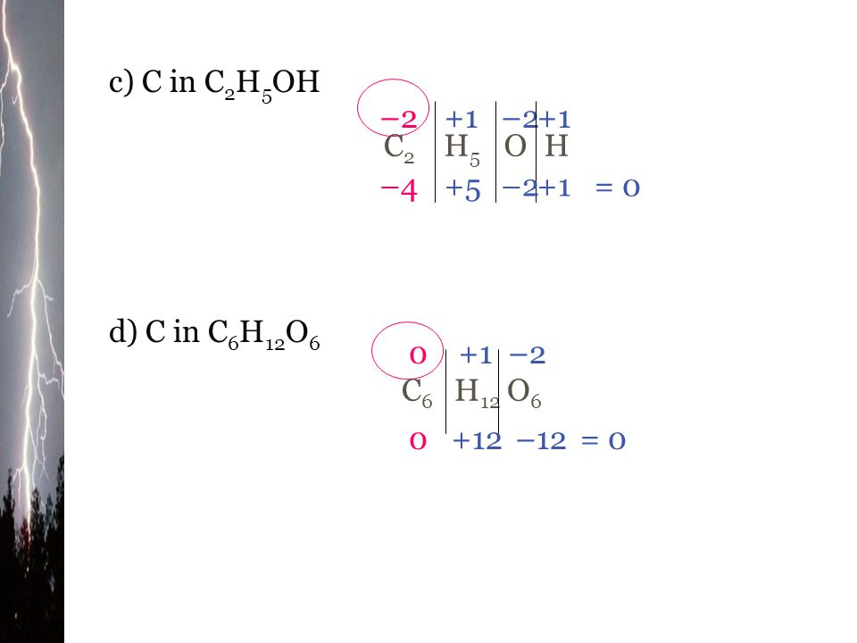Example What is the oxidation number (state) for the element identified in each of the following substances: a) N in N 2 O N2N2 O individual oxidation