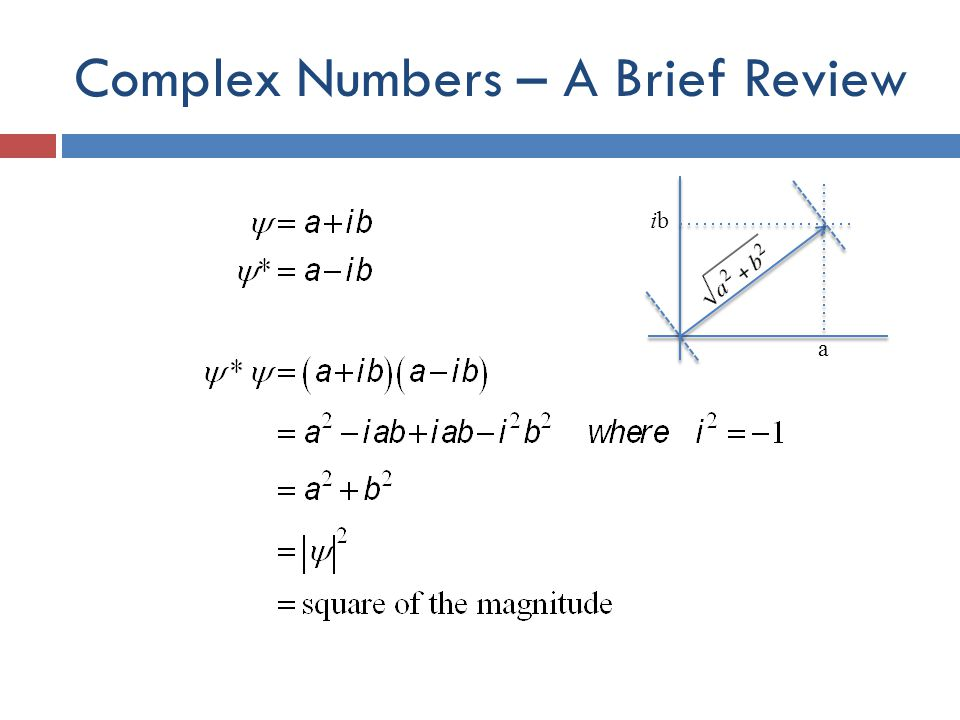 Complex Numbers – A Brief Review a ibib