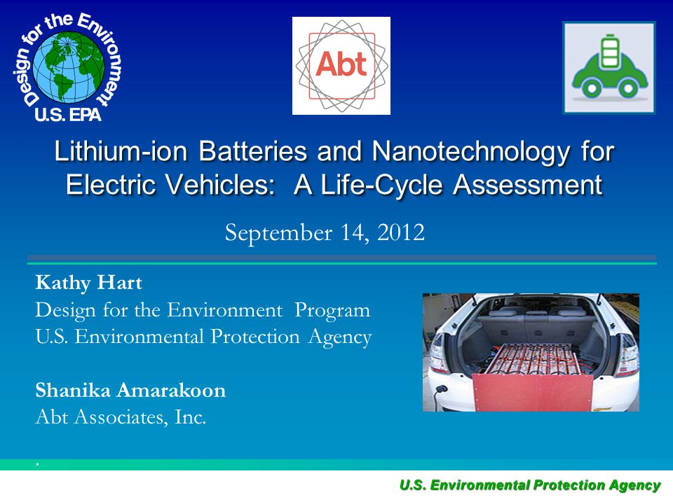 Lithium-ion Batteries and Nanotechnology for Electric Vehicles: A Life-Cycle Assessment.