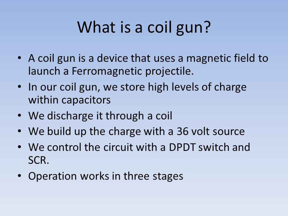 Coil Operation A changing current induces a magnetic current.