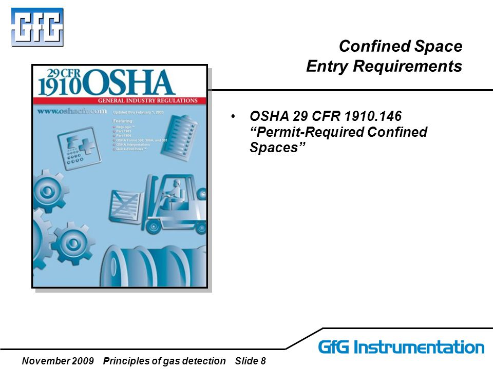 November 2009 Principles of gas detection Slide 39 Calibration Verify accuracy on a regular basis is to guard against any unexpected loss of sensitivity Document!