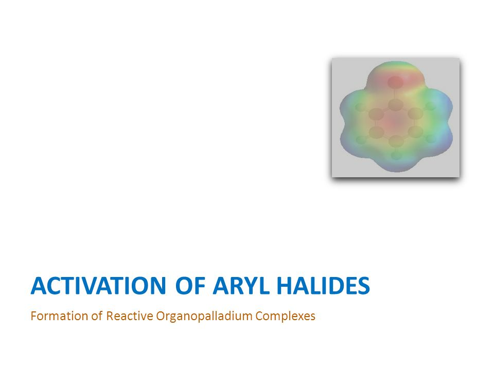 ACTIVATION OF ARYL HALIDES Formation of Reactive Organopalladium Complexes