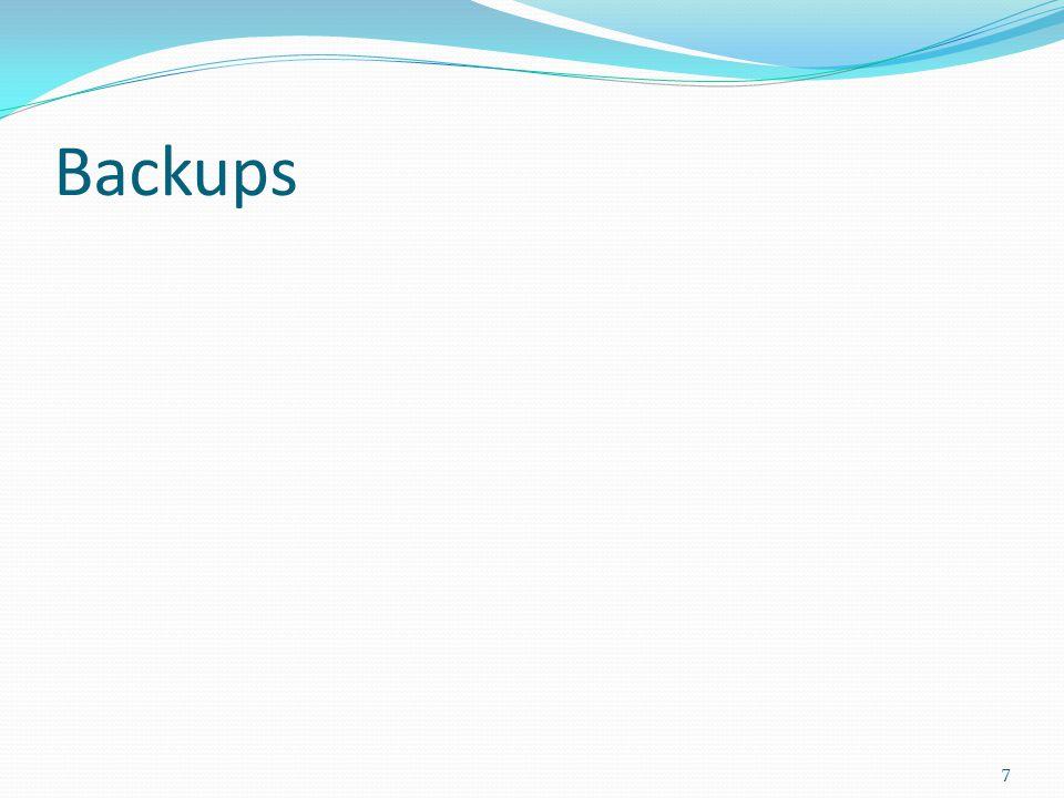 Backups 7