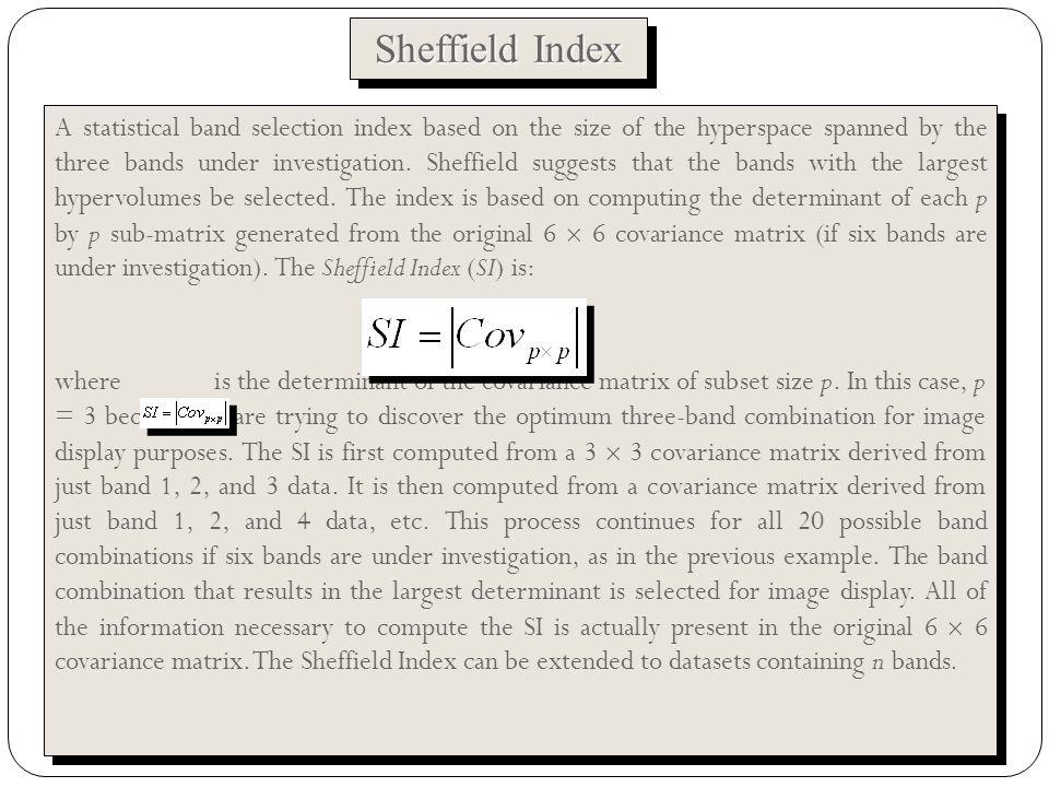 Sheffield Index Band combination: 1,2,31,2,41,2,51,2,62,3,42,3,52,3,63,4,5 3,4,6 etc.