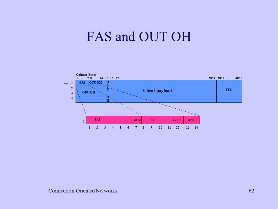 Connection-Oriented Networks62 FAS and OUT OH FAS MFAS SM GCC RES 1...