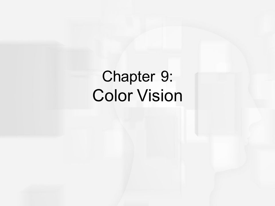 Chapter 9: Color Vision