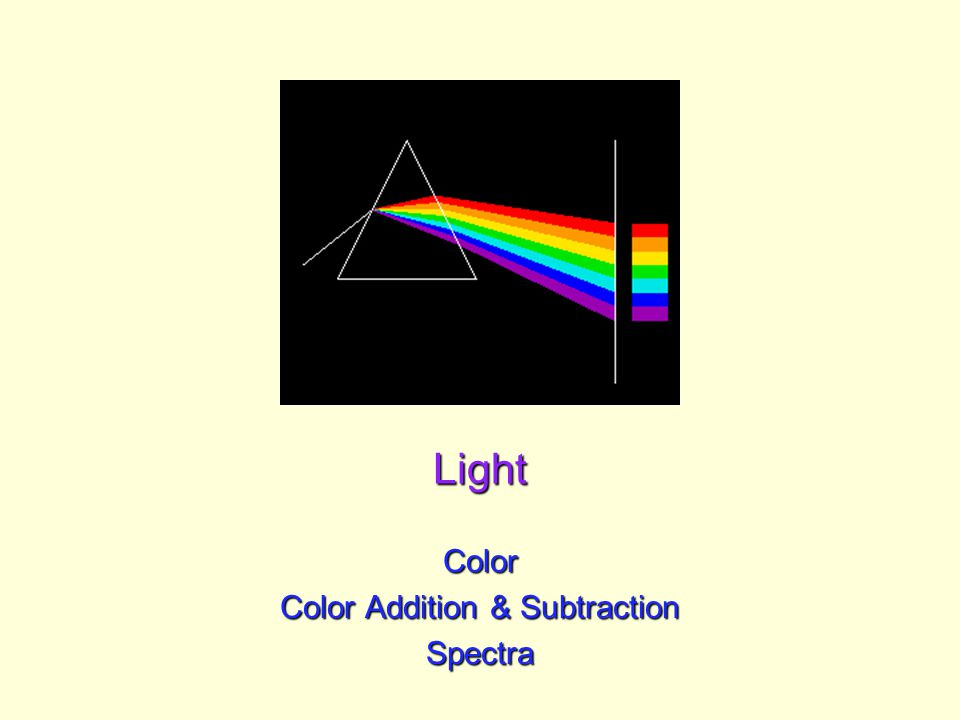 Light Color Color Addition & Subtraction Spectra