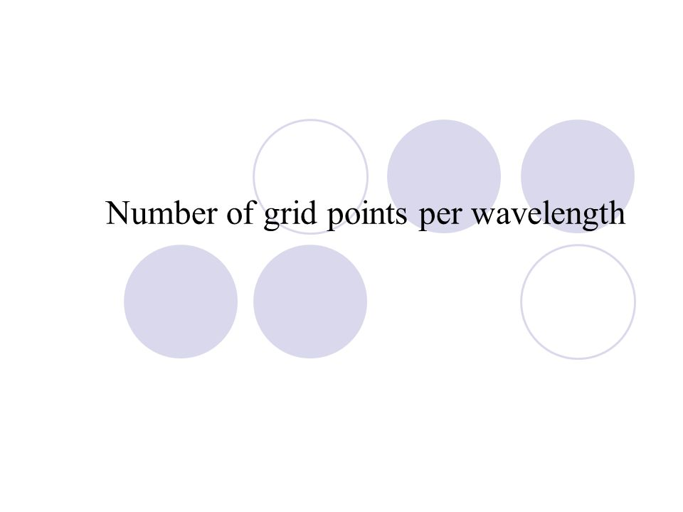Number of grid points per wavelength
