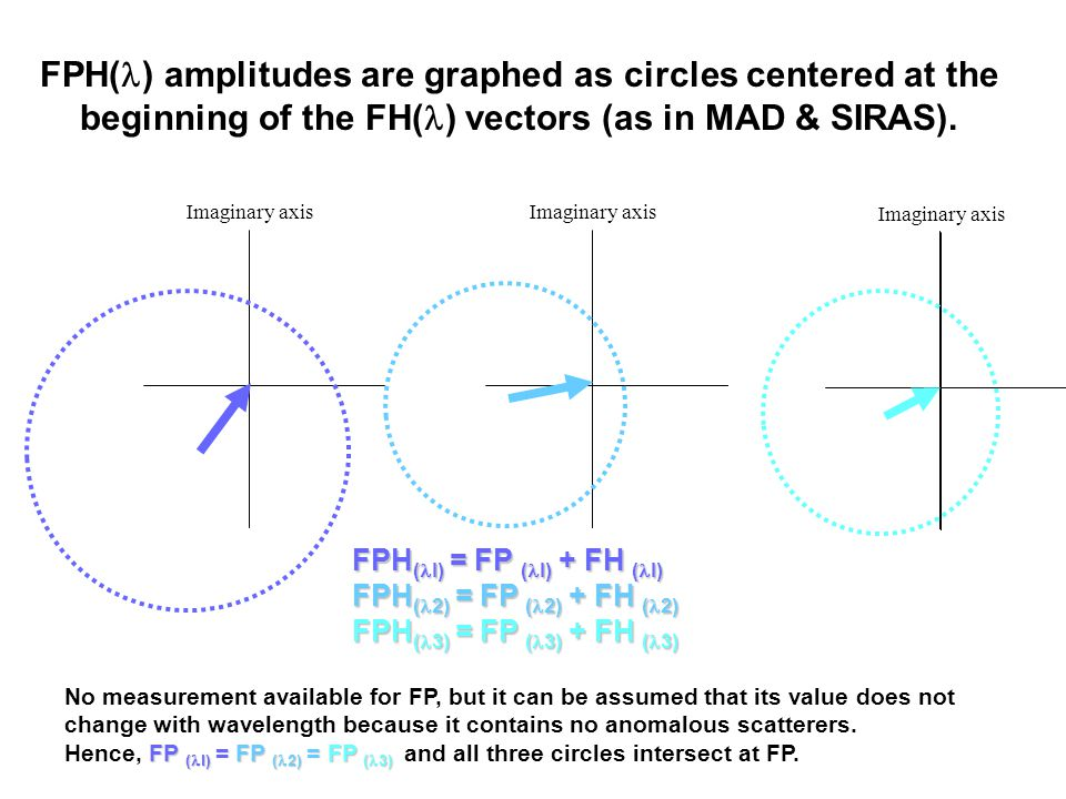 FPH( ) amplitudes are graphed as circles centered at the beginning of the FH( ) vectors (as in MAD & SIRAS).