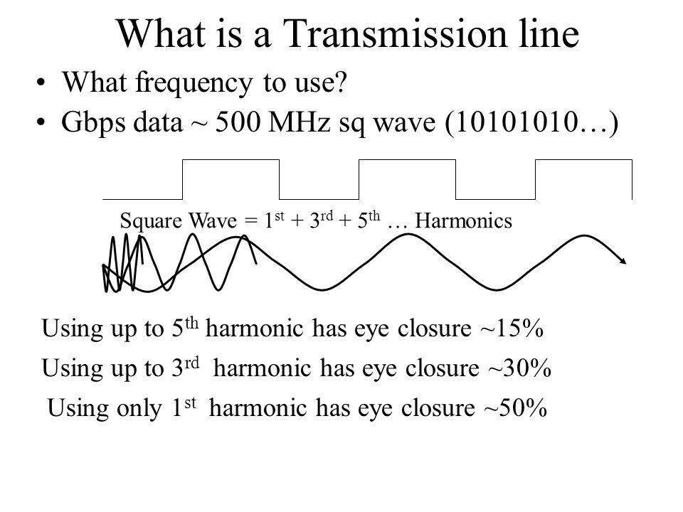 What is a Transmission line What frequency to use.