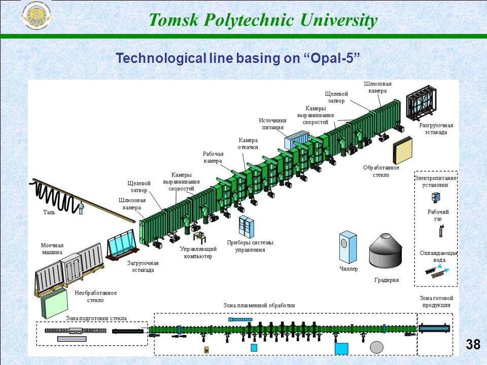 "Томский политехнический университет Tomsk Polytechnic University Technological line basing on ""Opal-5"" 3838"