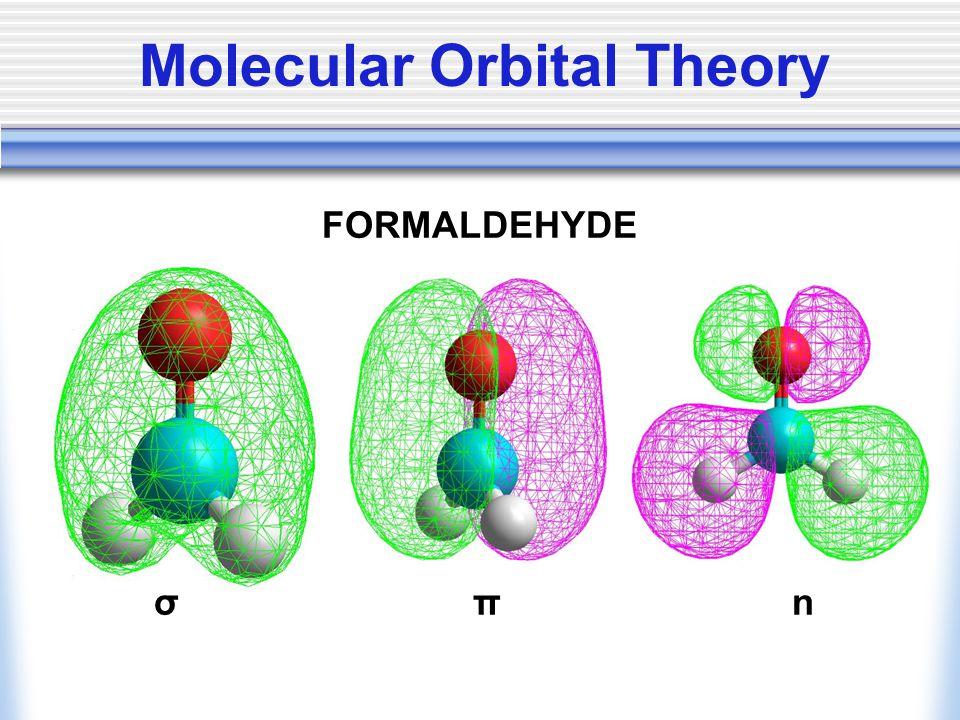 FORMALDEHYDE σ π n Molecular Orbital Theory