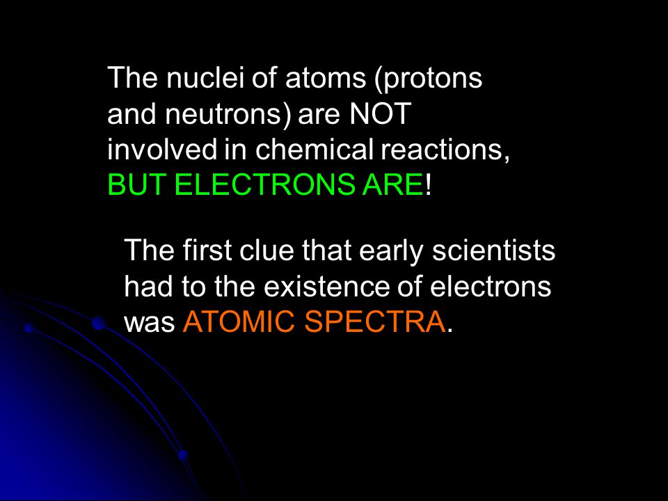 The nuclei of atoms (protons and neutrons) are NOT involved in chemical reactions, BUT ELECTRONS ARE.