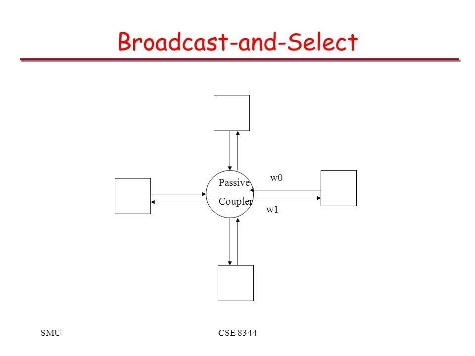SMUCSE 8344 Broadcast-and-Select Passive Coupler w1 w0