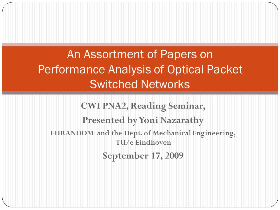 Paper 4: Routing and Wavelength Assignment in Optical Networks.