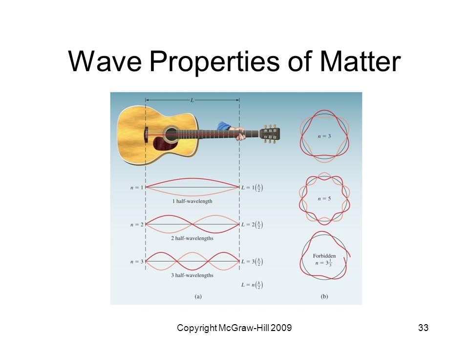 Copyright McGraw-Hill 200933 Wave Properties of Matter