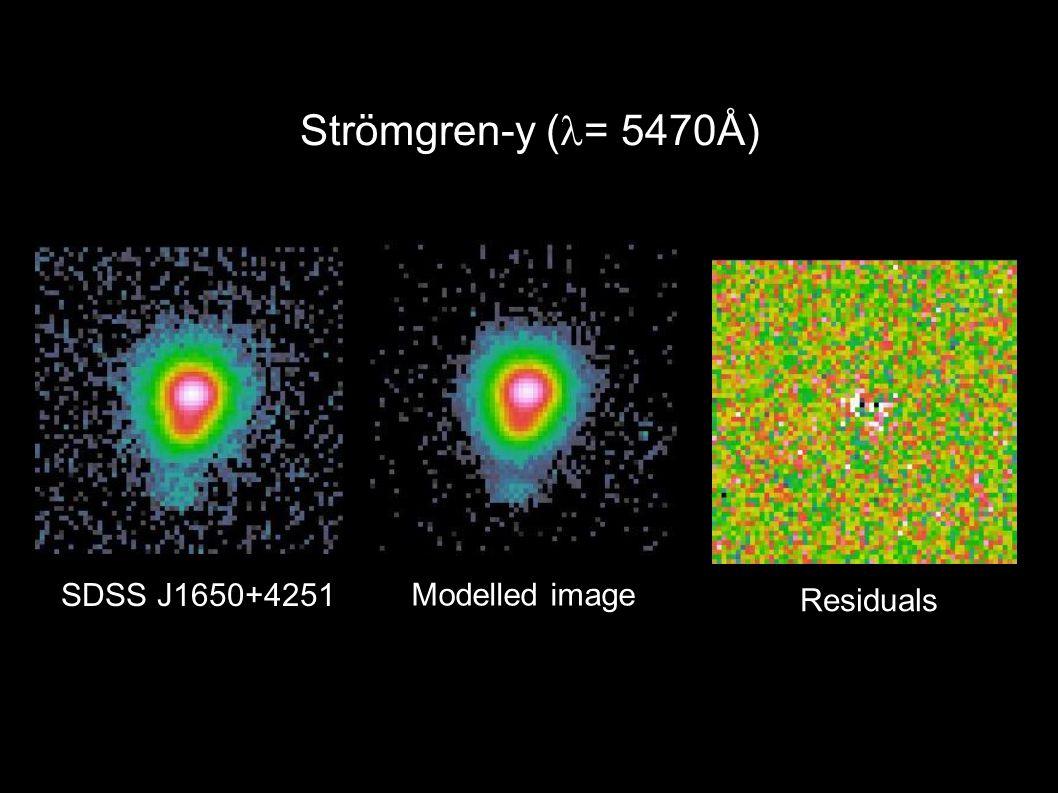 Strömgren-y ( = 5470Å) SDSS J1650+4251 Residuals Modelled image