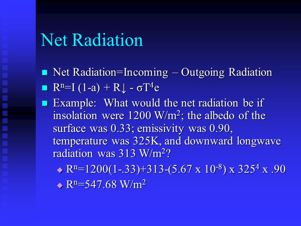 Global Radiation Balance Scattering of shortwave vs.