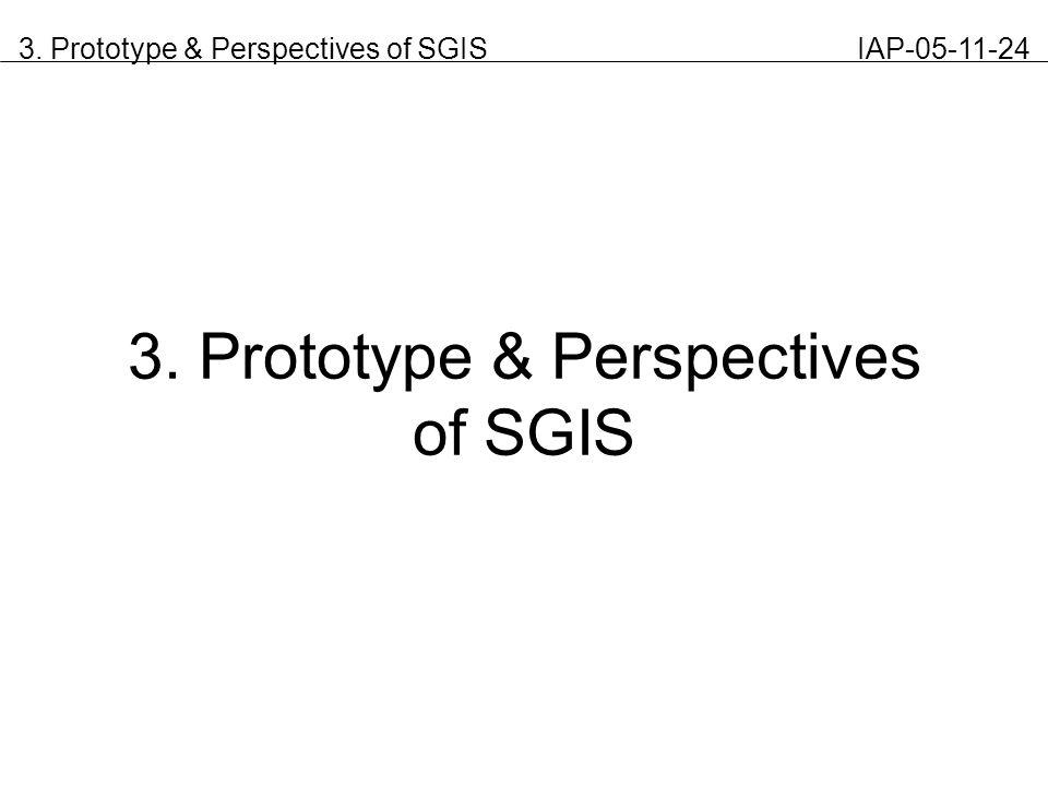 3. Prototype & Perspectives of SGIS IAP-05-11-24 3. Prototype & Perspectives of SGIS