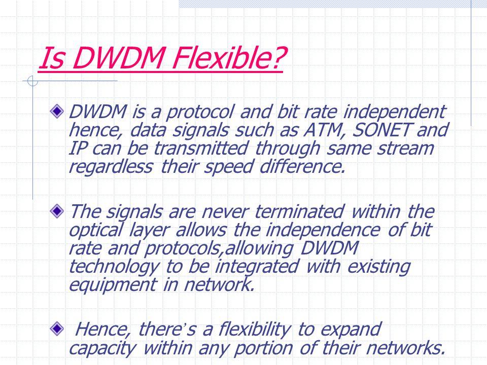 Is DWDM Flexible.