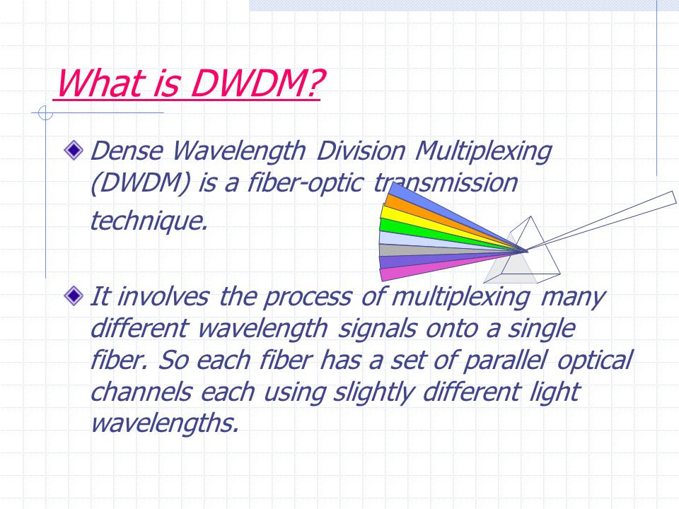 CONT..It employs light wavelengths to transmit data parallel-by-bit or serial-by-character.