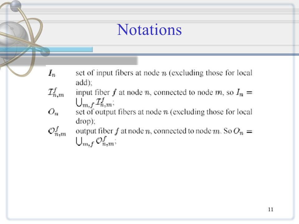 11 Notations