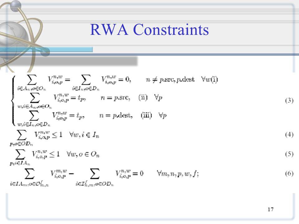 17 RWA Constraints