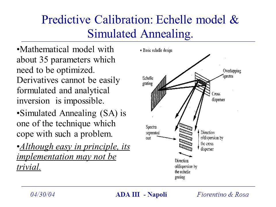 Fiorentino & Rosa04/30/04ADA III - Napoli Predictive Calibration: Echelle model & Simulated Annealing.