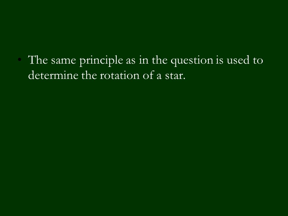 The same principle as in the question is used to determine the rotation of a star.
