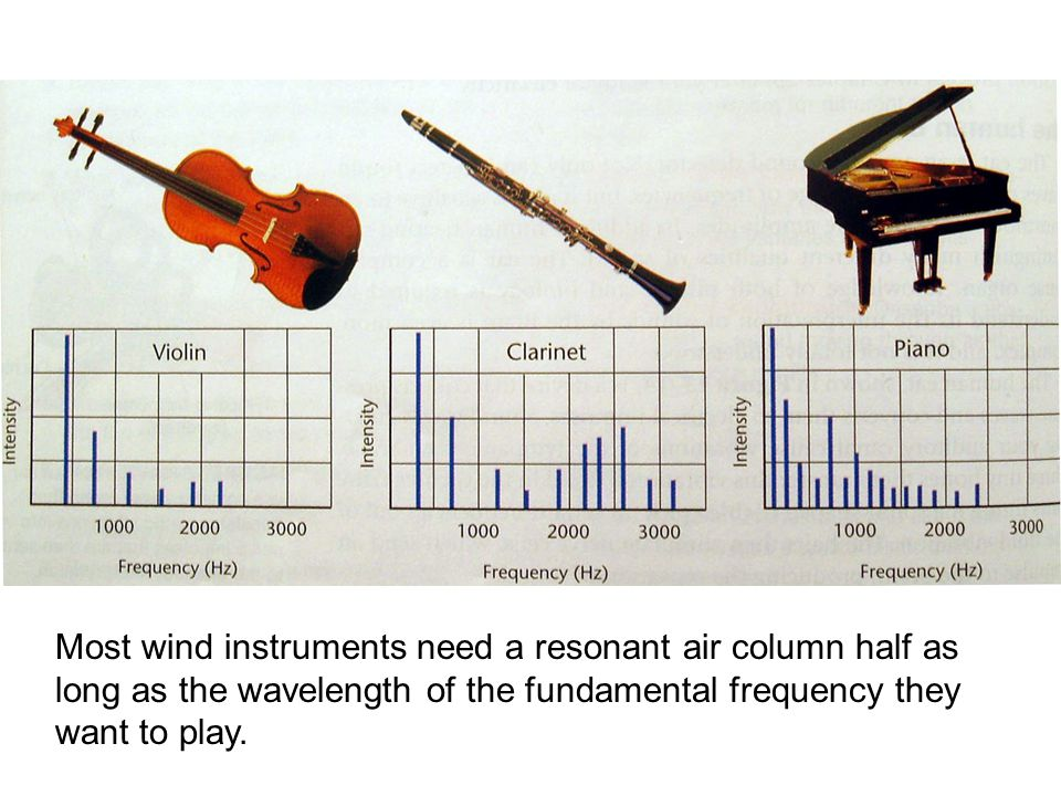 Most wind instruments need a resonant air column half as long as the wavelength of the fundamental frequency they want to play.