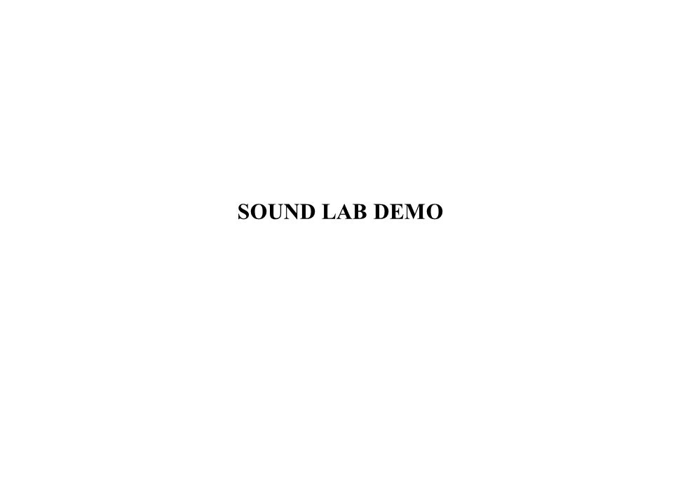 SOUND LAB DEMO
