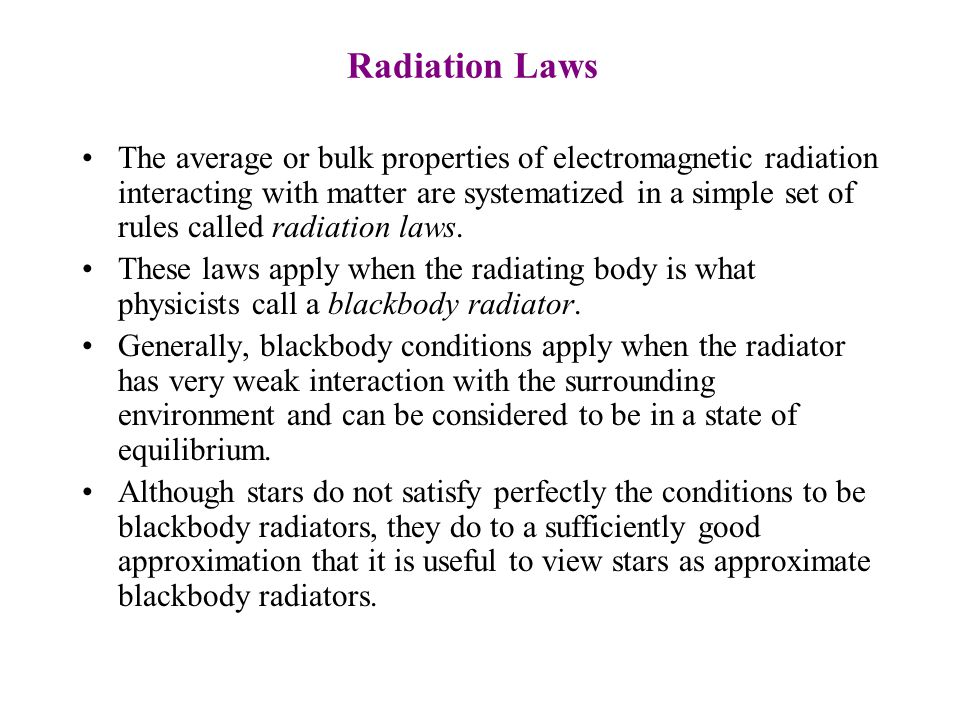 Electromagnetic Spectrum Electromagnetic radiation is categorized into types by their wavelengths. The types of radiation and the respective wavelengt