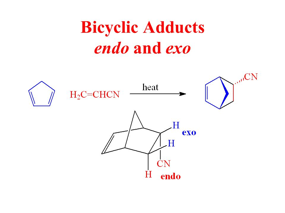 Bicyclic Adducts endo and exo