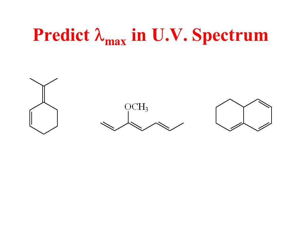 Predict max in U.V. Spectrum